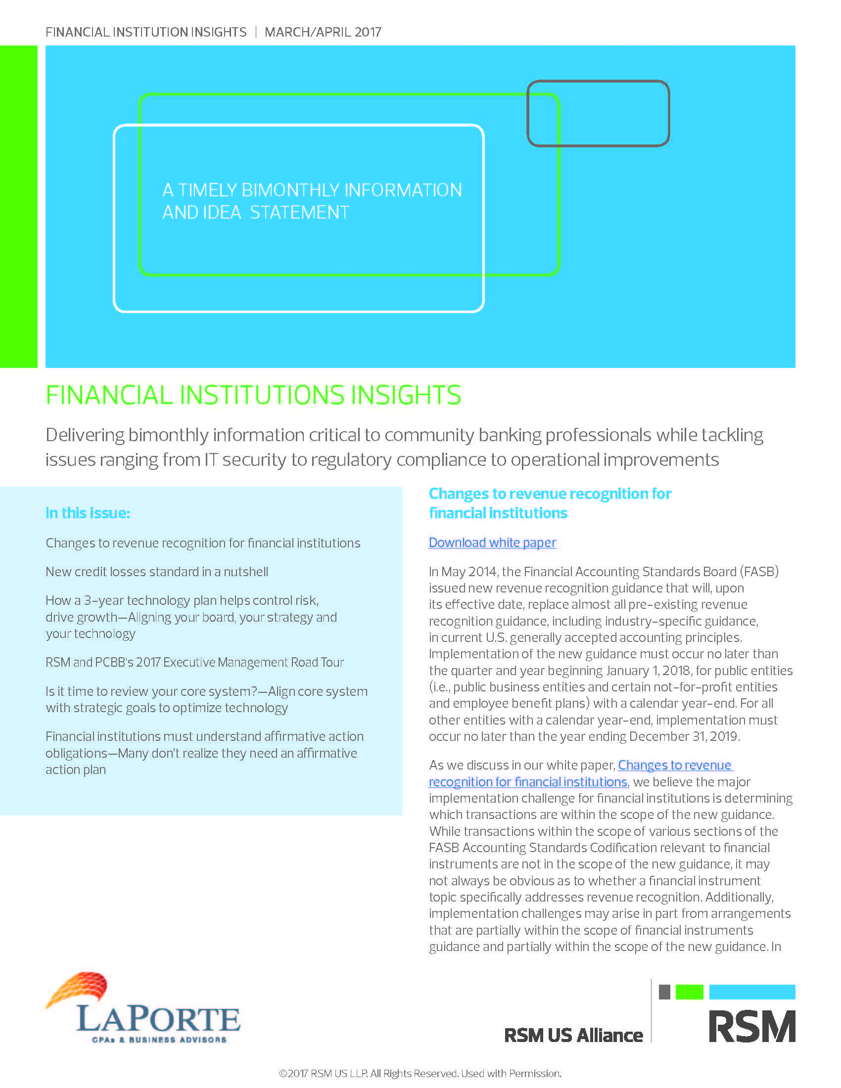 Financial Institutions Insights March April 2017