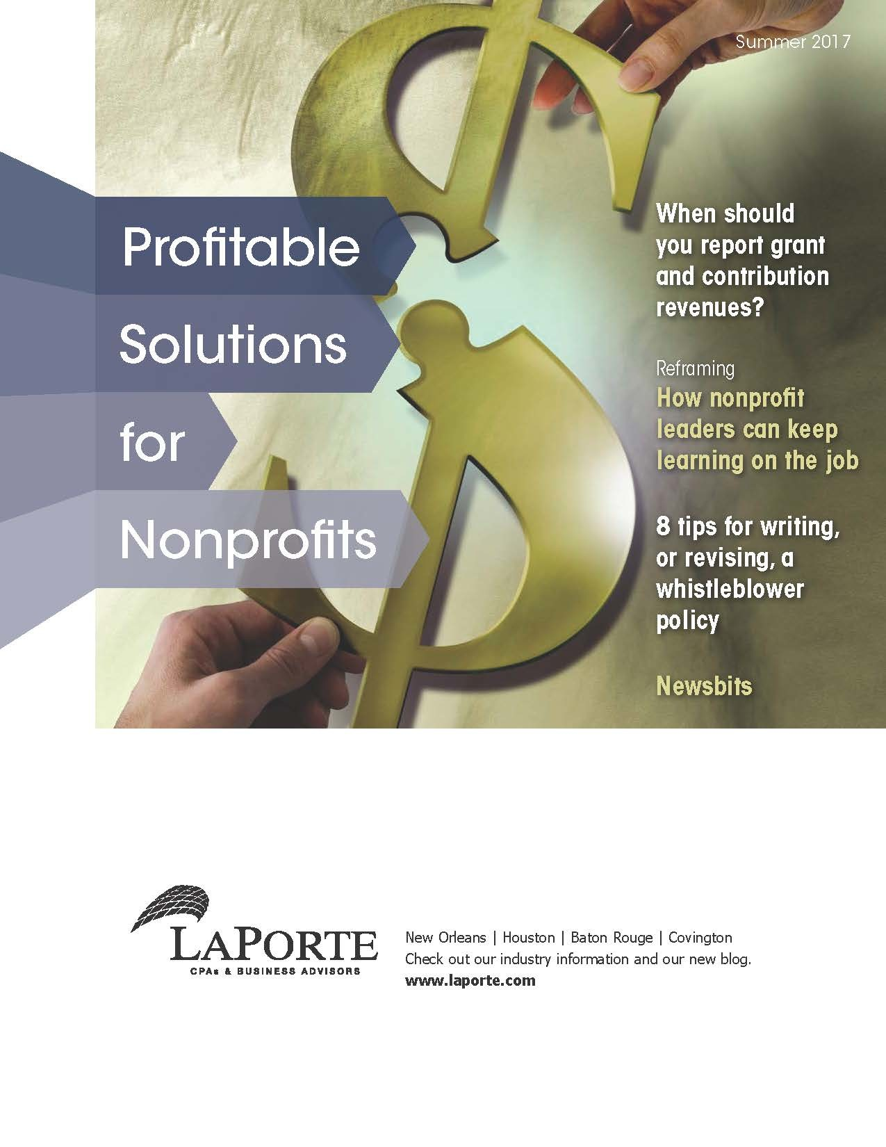 Profitable Solutions for Nonprofits Summer 2017