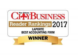 LaPorte Named Best Accounting Firm in New Orleans Region