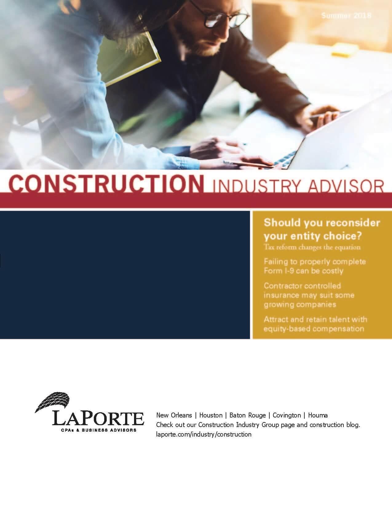 Construction Industry Advisor Summer 2018