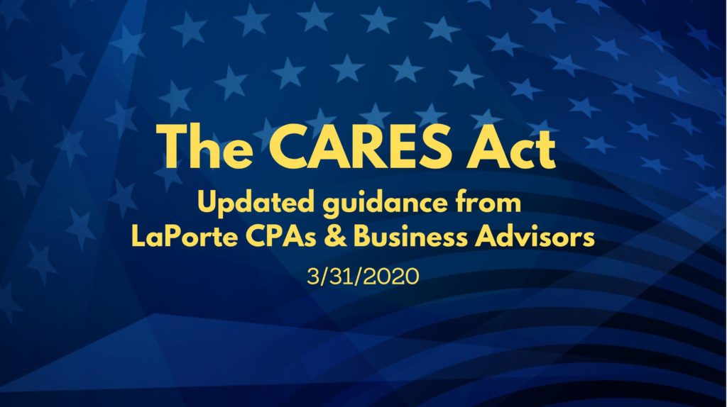 CARES Act updated guidance