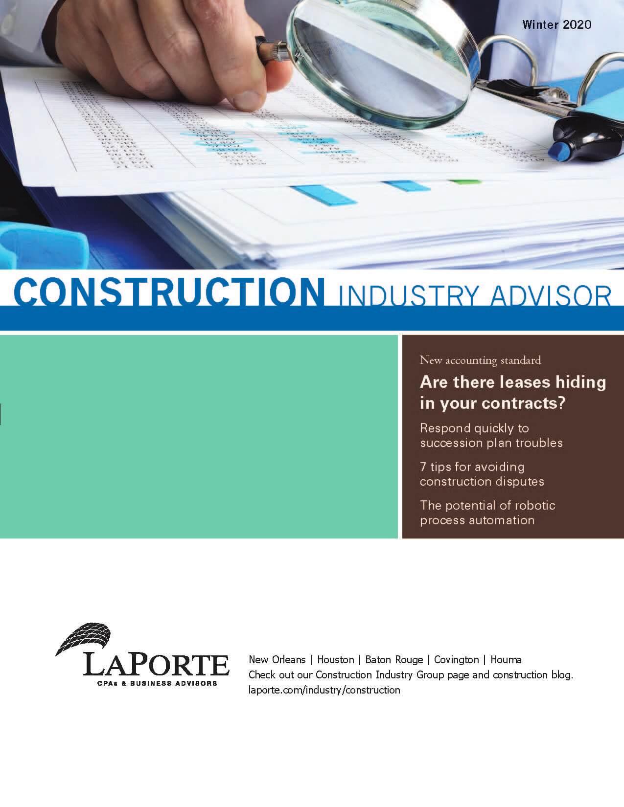 Construction Industry Advisor Winter 2020