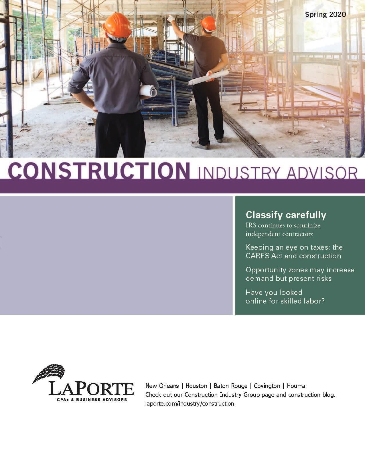 Construction Industry Advisor Spring 2020