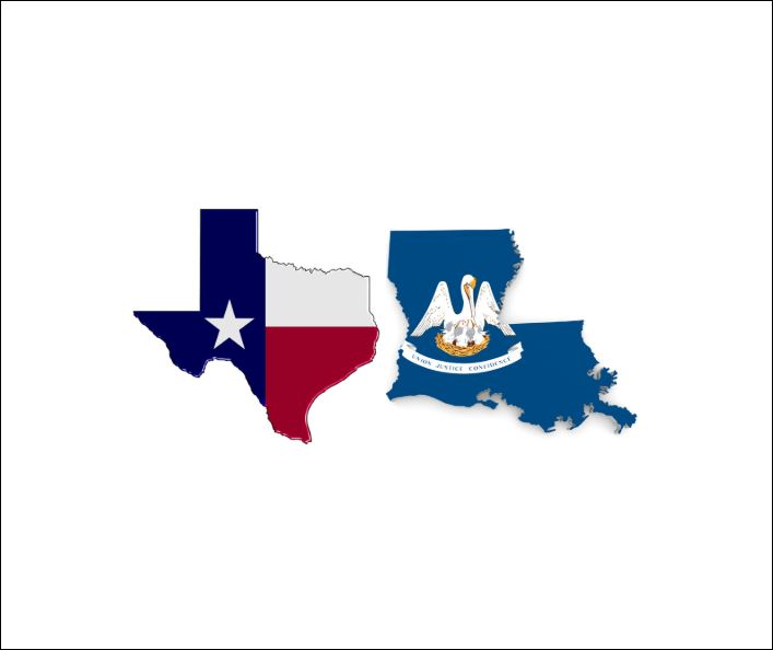 LA and TX are offering relief on some tax filings