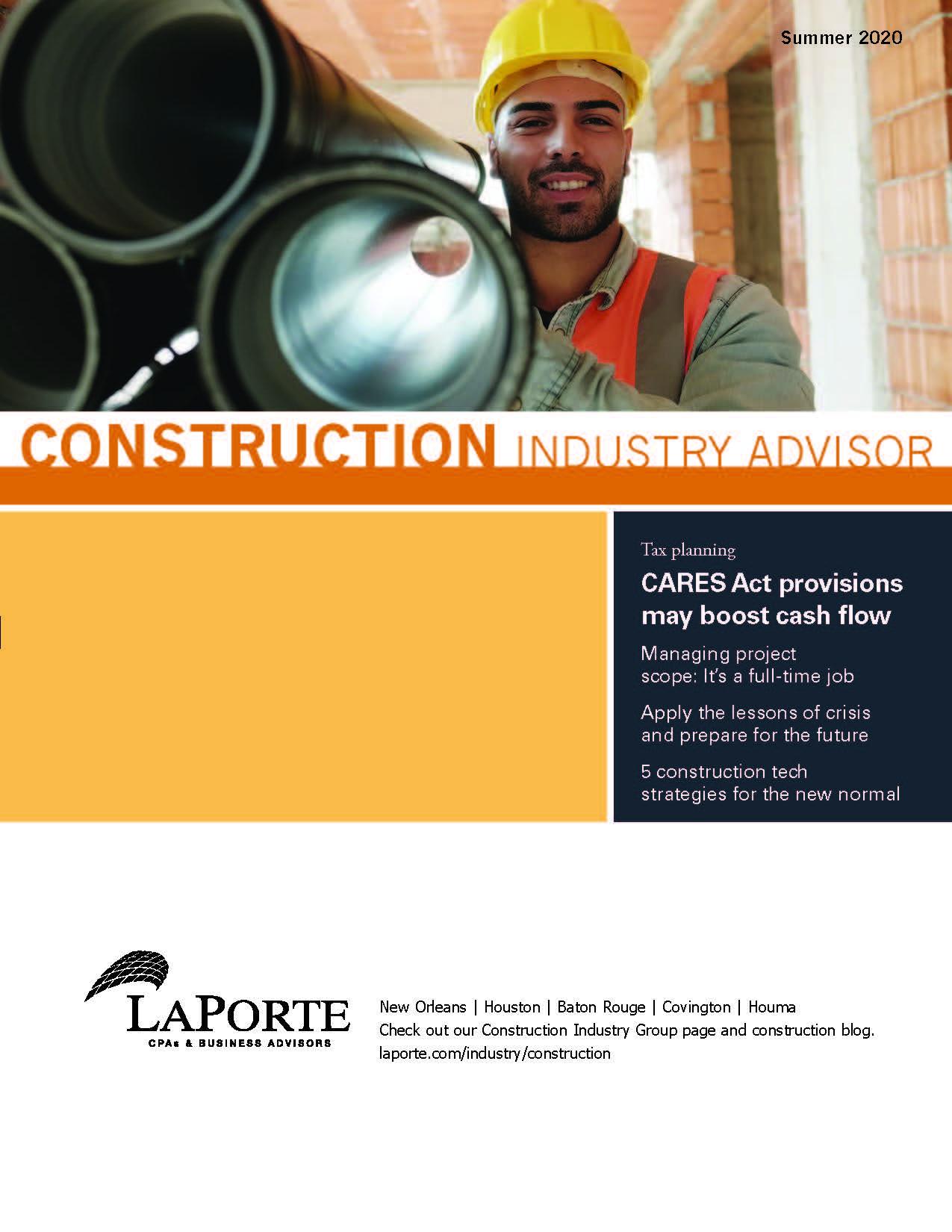Construction Industry Advisor Summer 2020