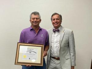 Ted Mason receives LCPA Life Membership award