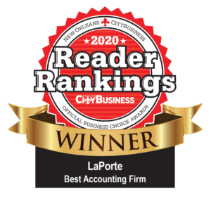 New Orleans CityBusiness Reader Rankings Best Accounting Firm award logo